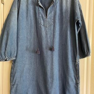 Madewell Denim Kaftan dress